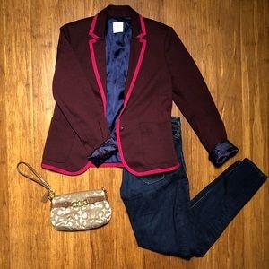 Gap Academy Blazer Maroon/Pink Size 0